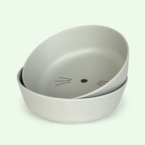 Cat Dusty Mint Liewood Bamboo Bowls - 2 pack