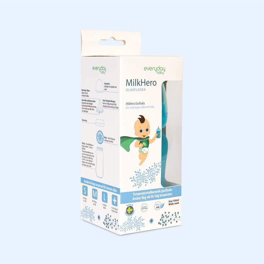 Turquoise Everyday Baby Glass Bottle 150ml