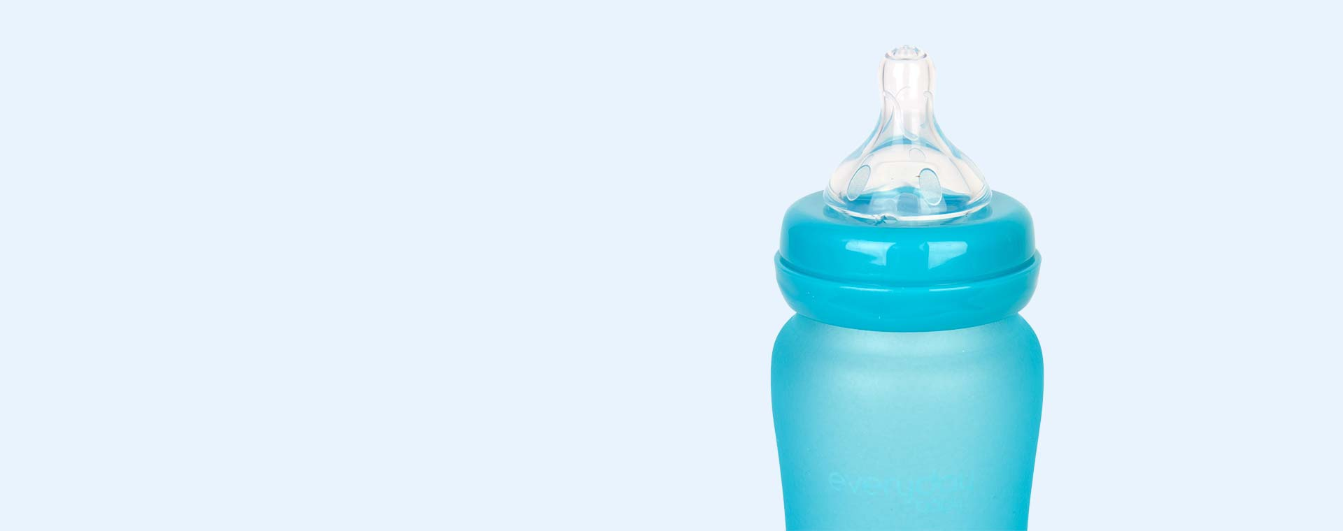 Turquoise Everyday Baby Glass Bottle 240ml