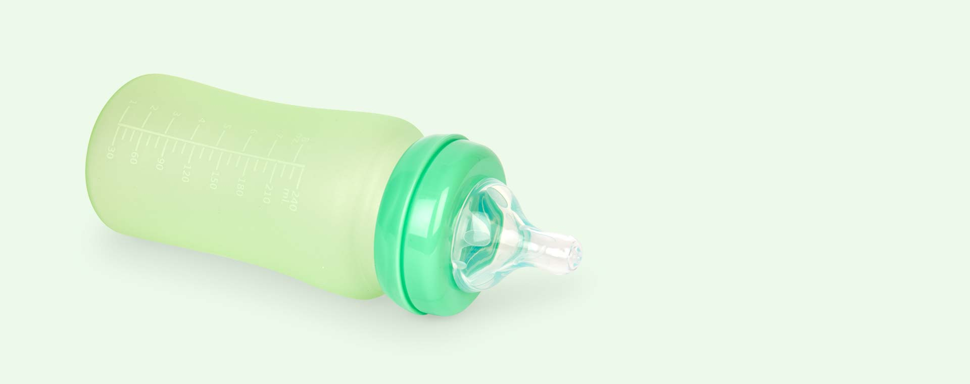 Green Everyday Baby Glass Bottle 240ml