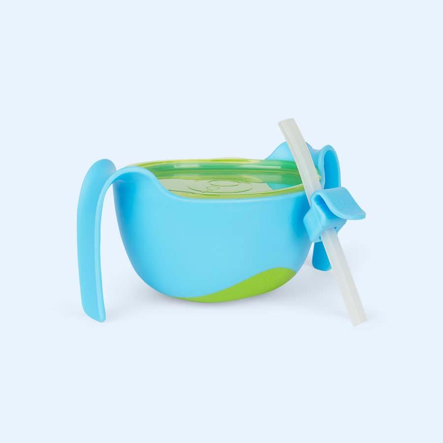Ocean Breeze b.box Bowl XL and Straw