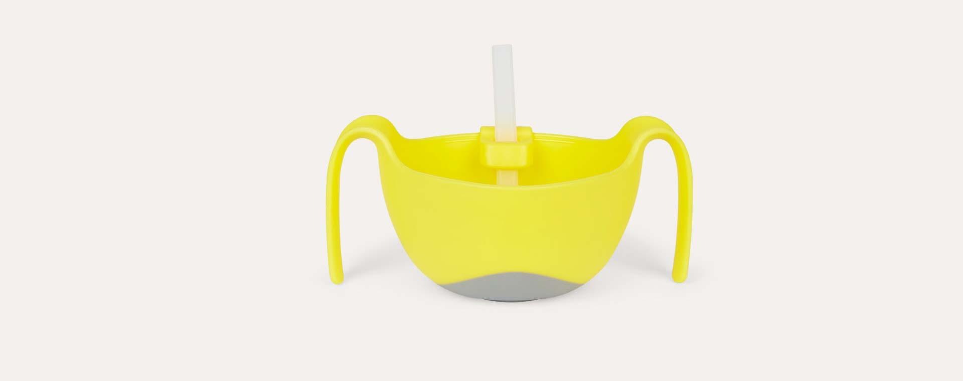 Lemon Sherbert b.box Bowl XL and Straw