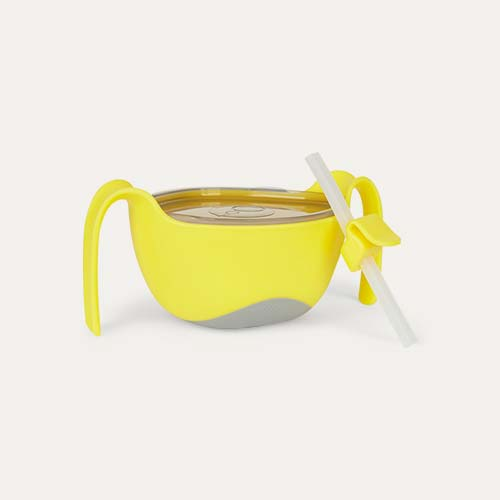 Lemon Sherbert b.box Bowl XL and Straw