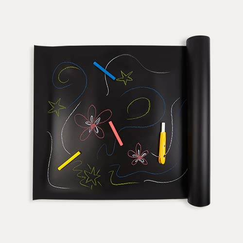 Black Jaq Jaq Bird Chalk Board Table Runner