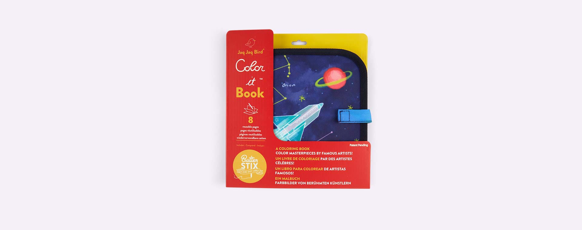 Space Jaq Jaq Bird Chalk Board Book