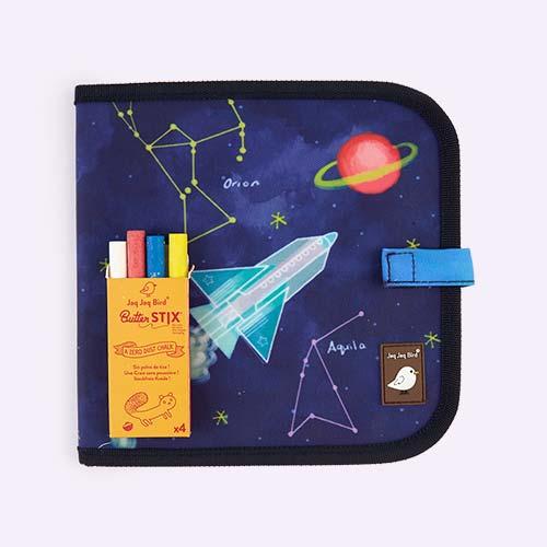 Space Jaq Jaq Bird Chalk Board Book