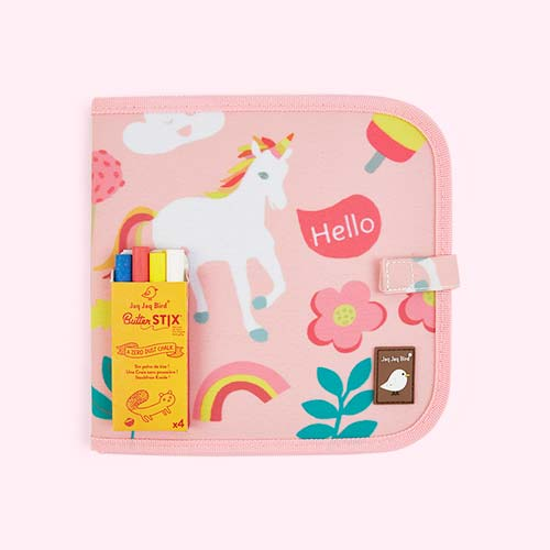 Unicorn Jaq Jaq Bird Chalk Board Book