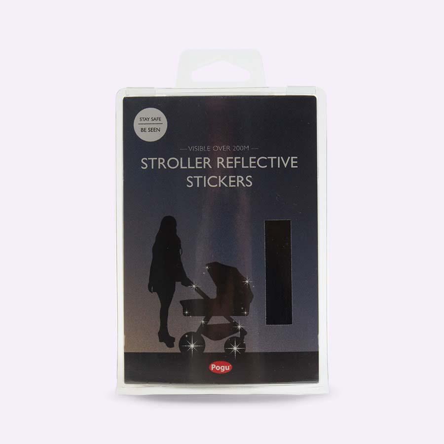 Black Pogu Buggy Reflective Stickers