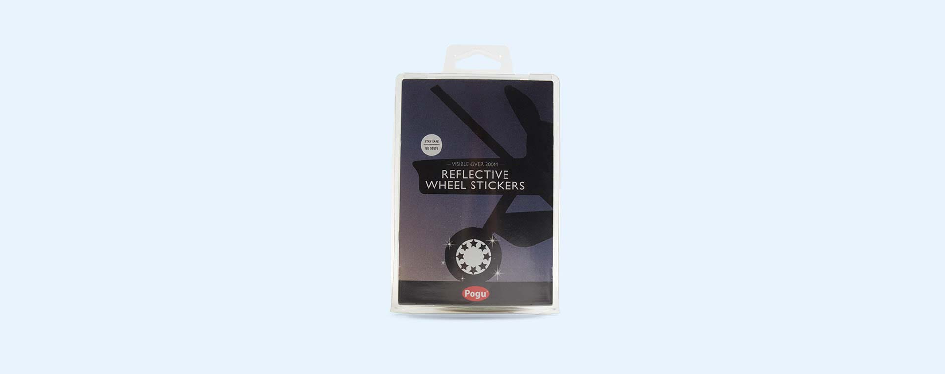 Black Pogu Reflective Wheel Stickers