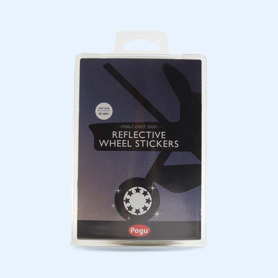 Black Pogu Reflective Wheel Stickers