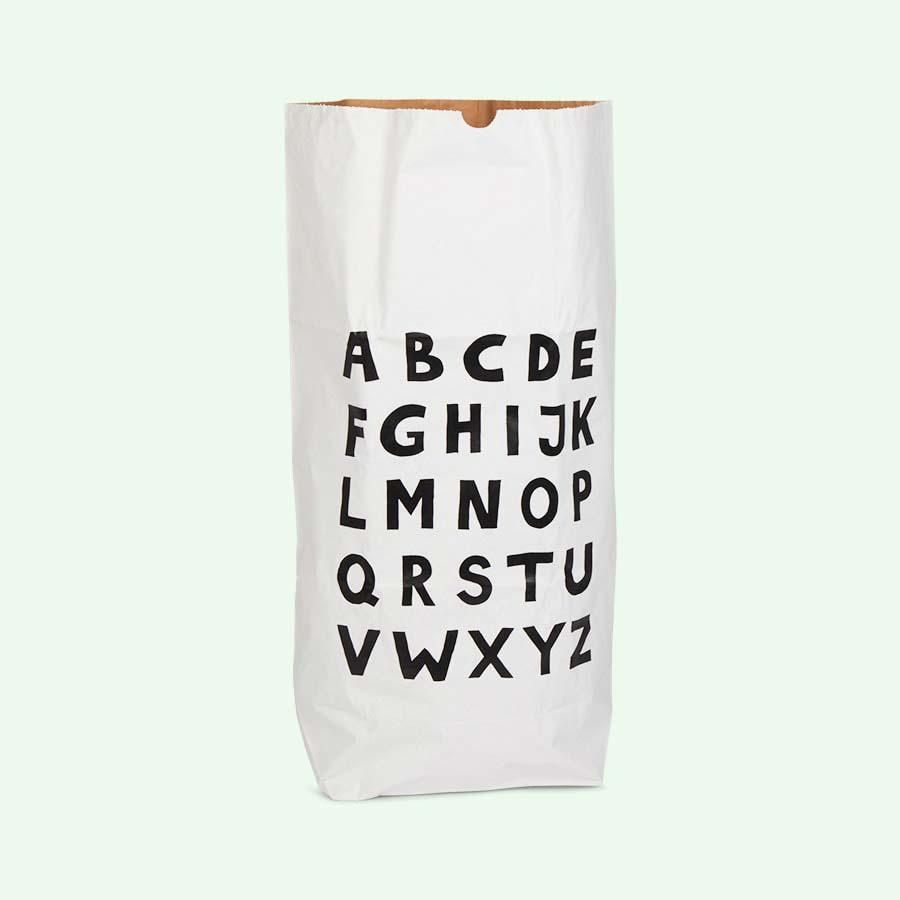 White Tellkiddo Large Paper ABC Bag