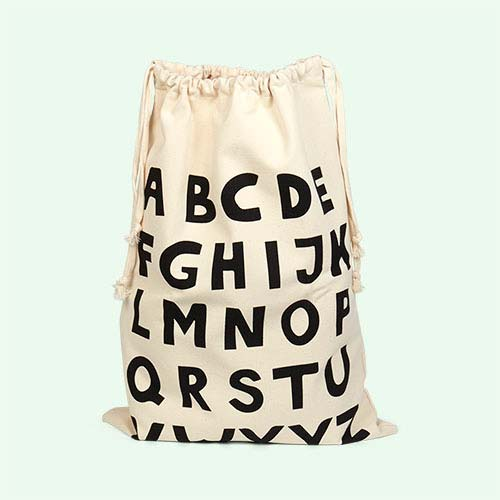 ABC Tellkiddo Fabric Drawstring Bag