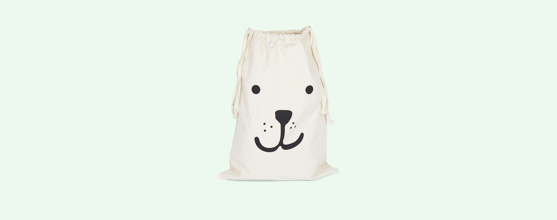 Bear Tellkiddo Fabric Drawstring Bag