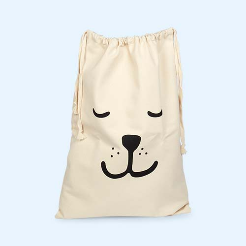 Sleeping Bear Tellkiddo Fabric Drawstring Bag