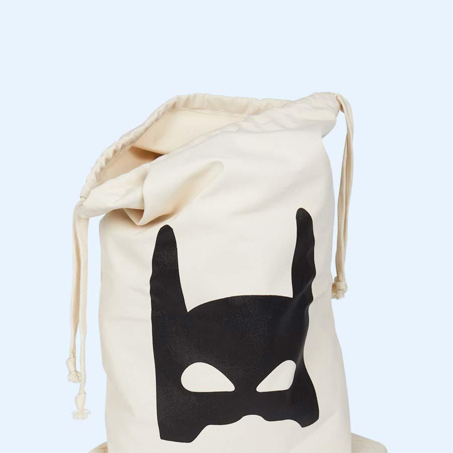 Superhero Tellkiddo Fabric Drawstring Bag