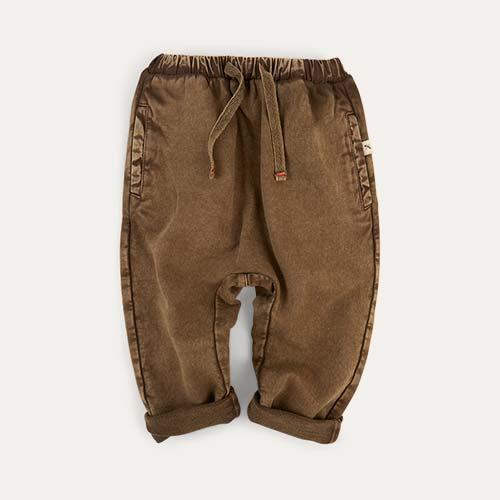 Brown KIDLY Label Jogger