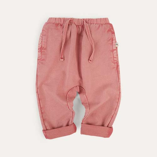 Pink KIDLY Label Jogger