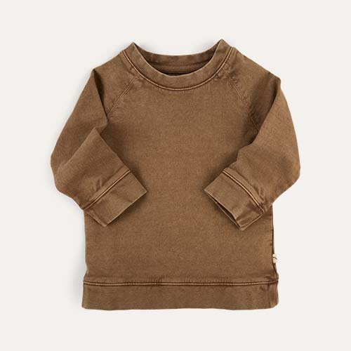 Brown KIDLY Label Sweatshirt