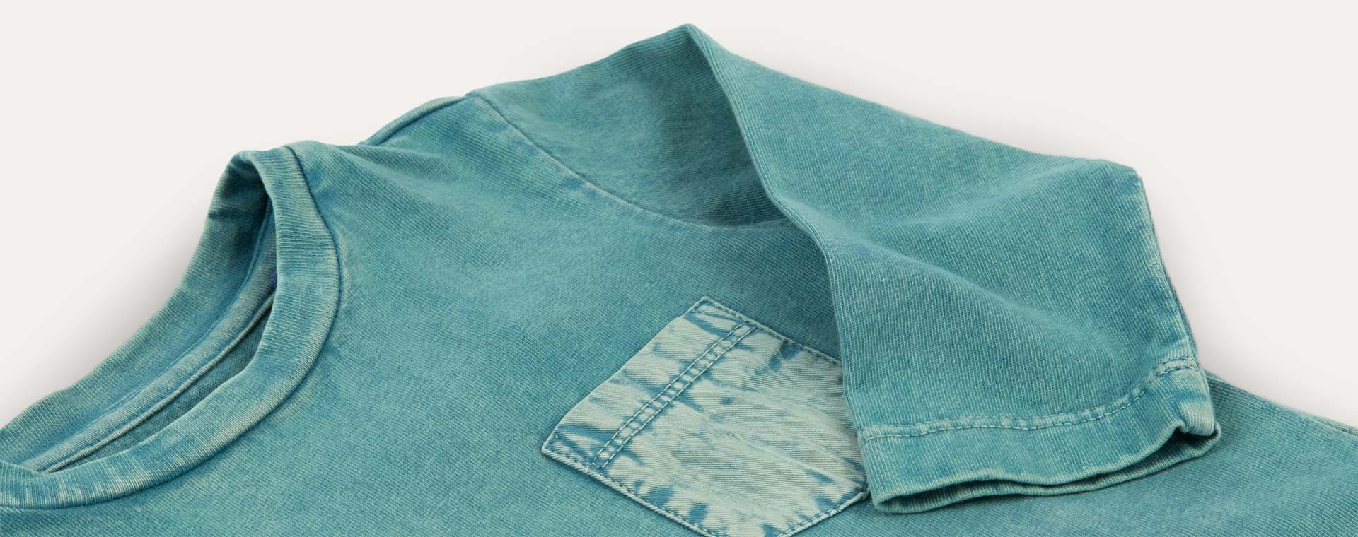 Green KIDLY Label Long Sleeve Pocket Tee
