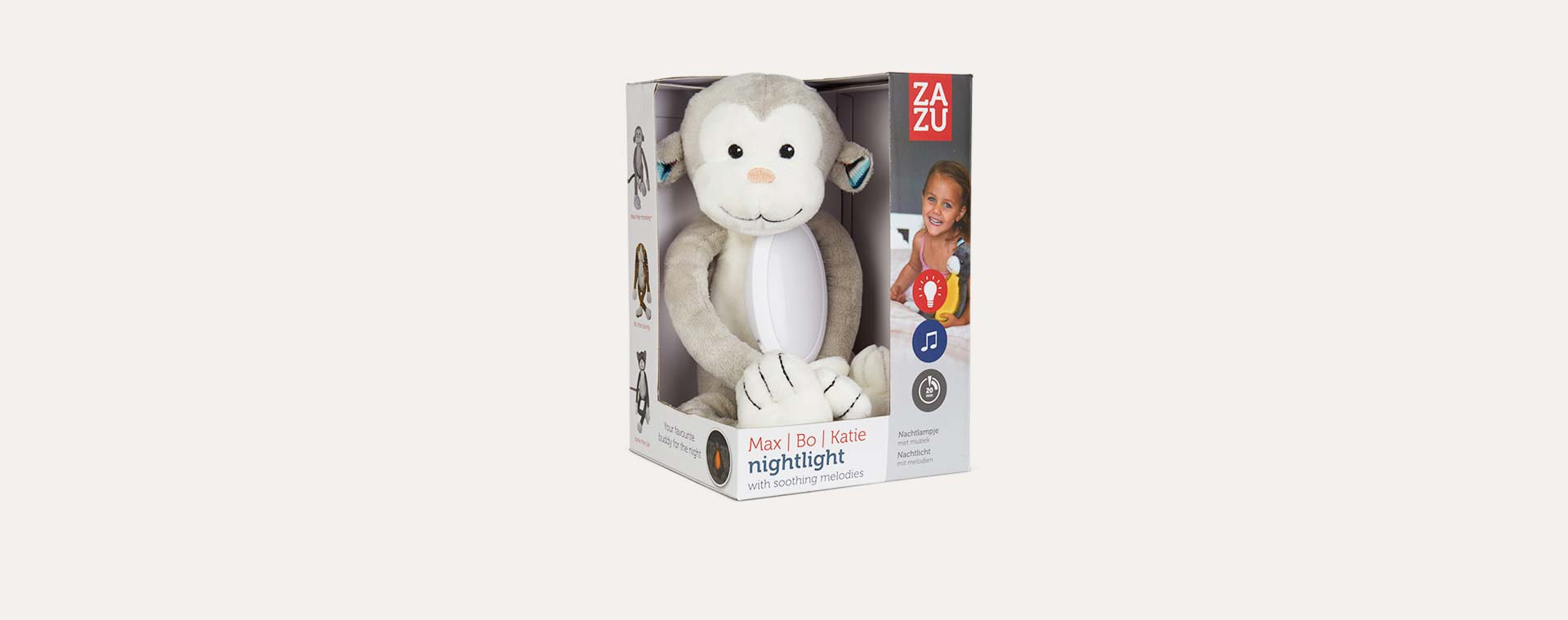 Max the Monkey Zazu Nightlight Soft Toy