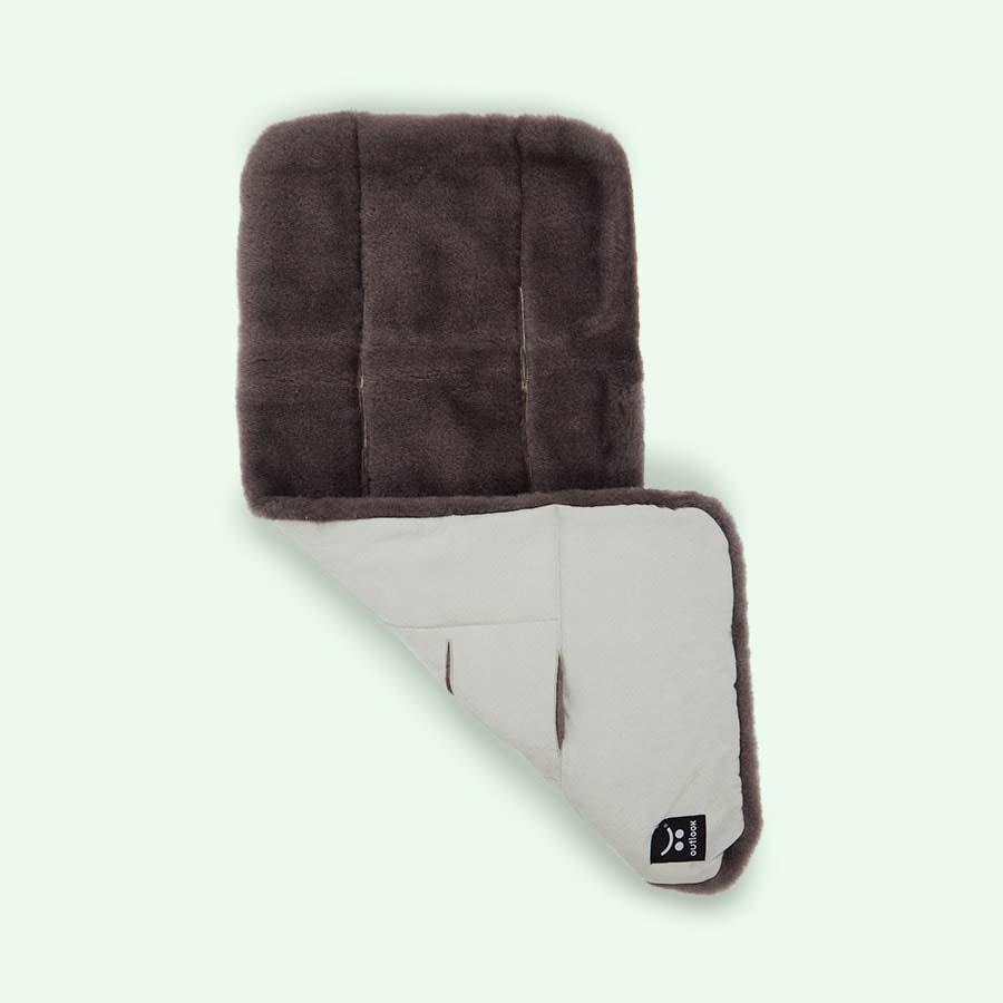Charcoal Outlook Pram Wool Liner