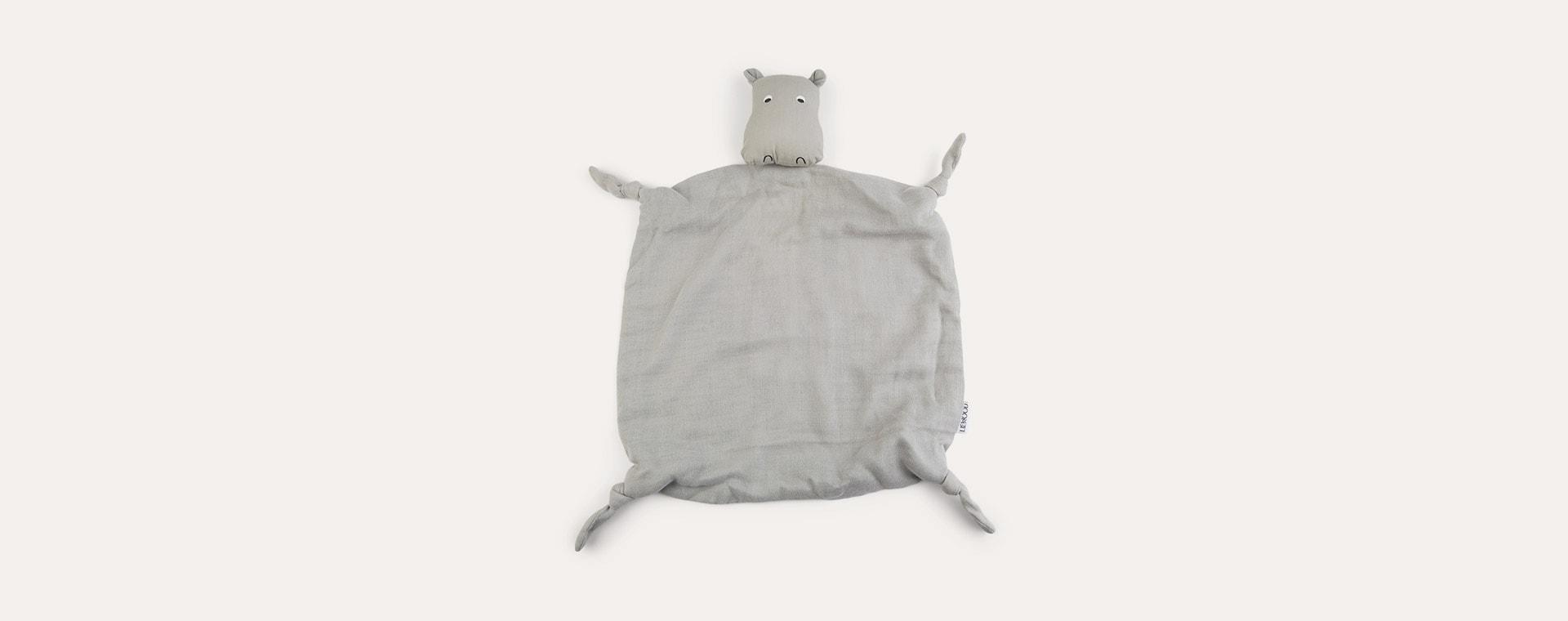 Hippo dove blue Liewood Agnete Cuddle Cloth