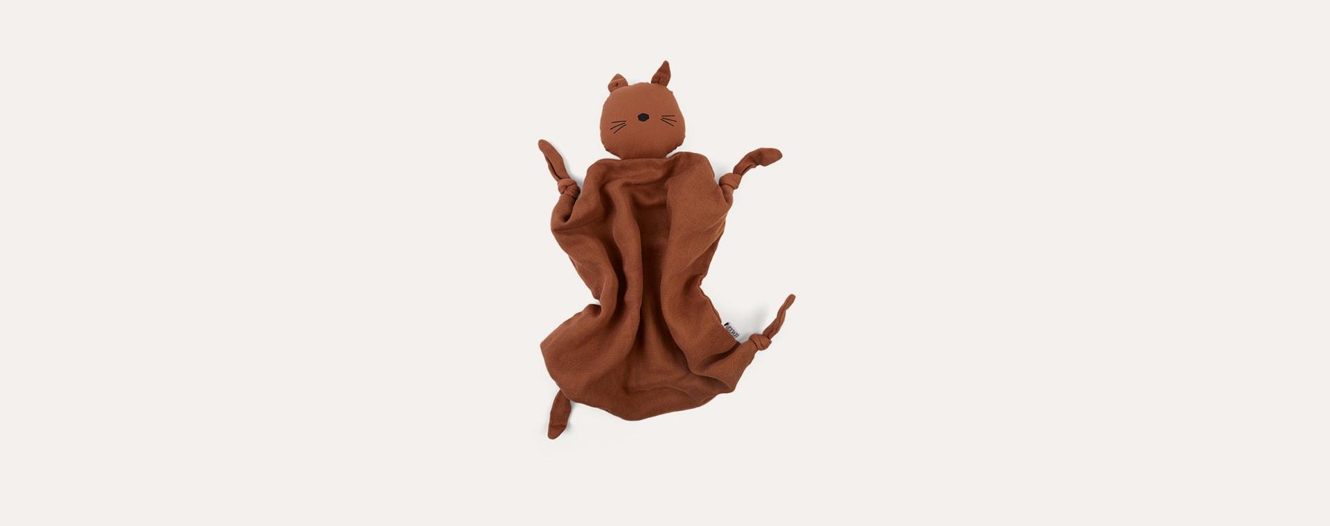 Terracotta Cat Liewood Agnete Cuddle Cloth