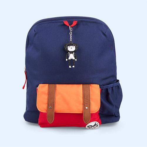 Navy Coloublock Babymel Kids 3+ Backpack