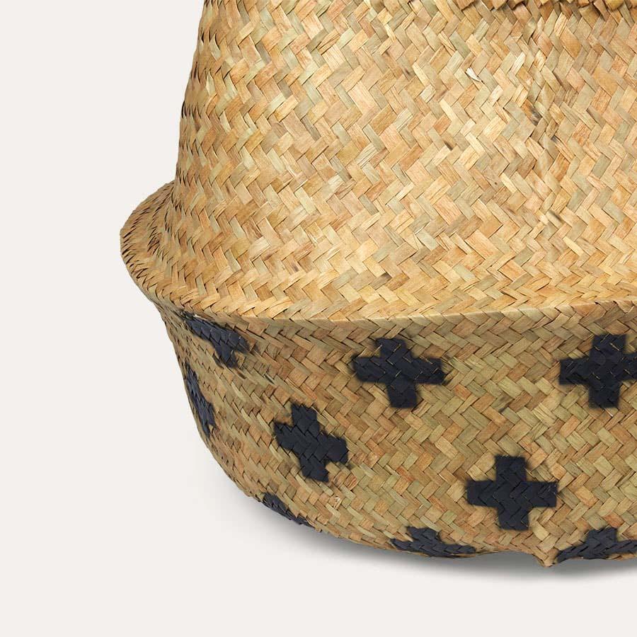 Black Cross Bloomingville Large Seagrass Basket