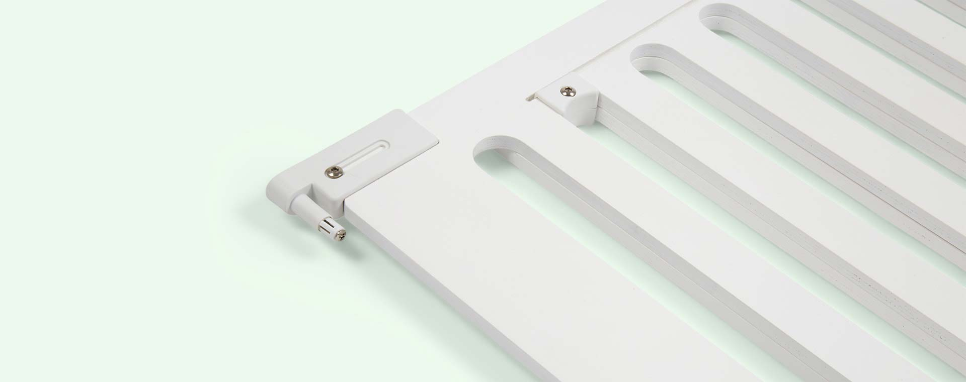 White Fred Safety Screw Fit Wooden Stair Gate