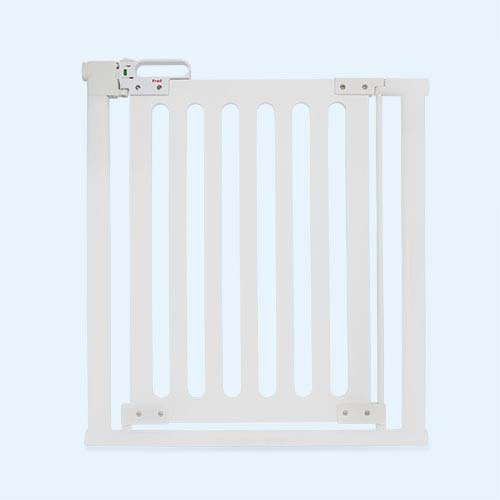White Fred Safety Pressure Fit Wooden Stair Gate