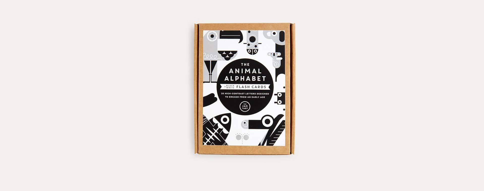 Black & White The Jam Tart Animal Alphabet Flash Cards