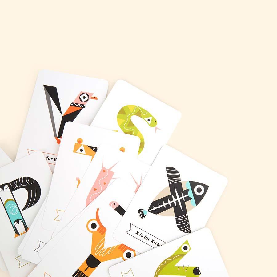 Multicoloured The Jam Tart Animal Alphabet Flash Cards