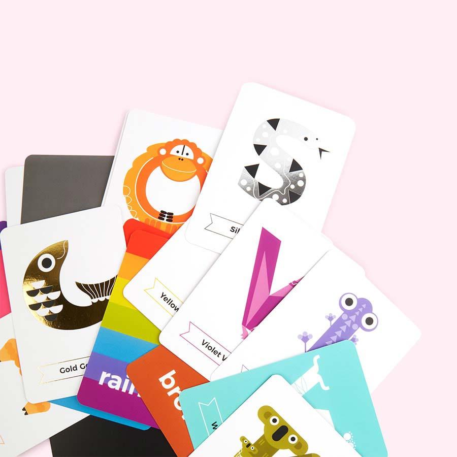 Multi The Jam Tart Animal Colours Flash Cards