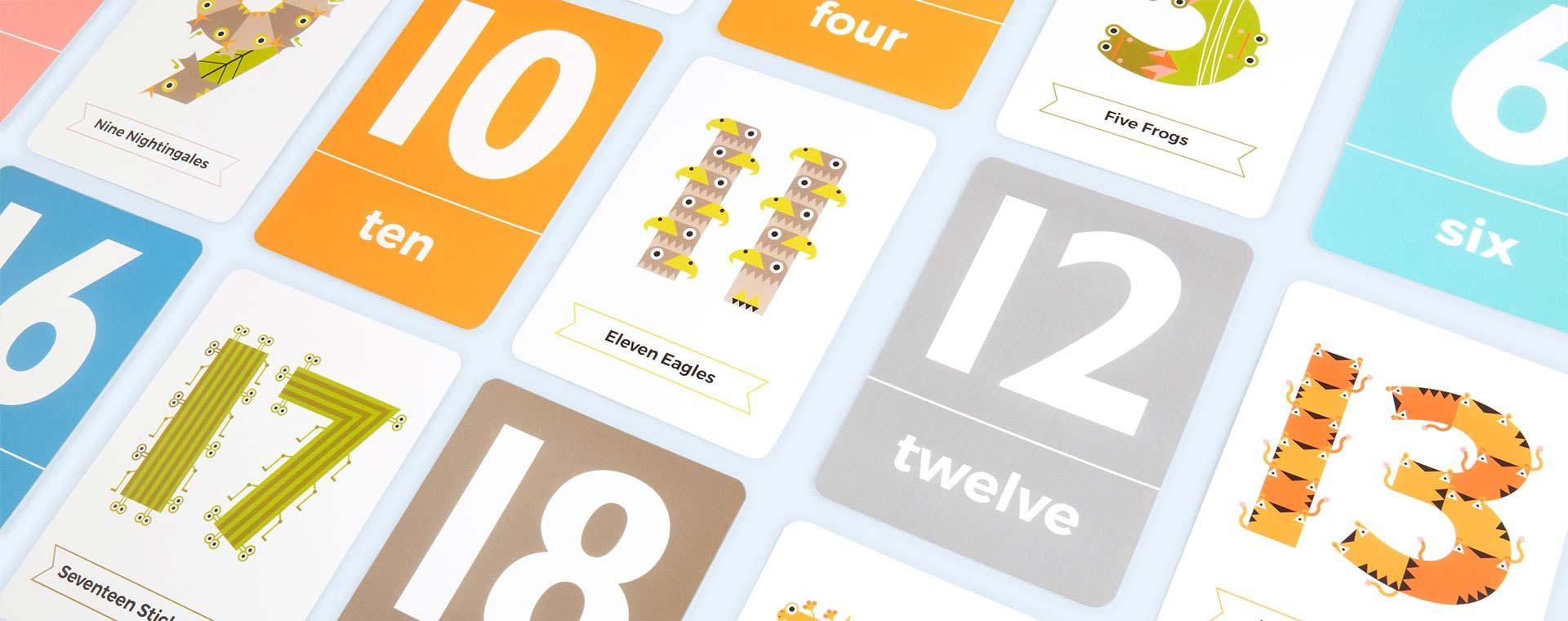 Multi The Jam Tart Animal Numbers Flash Cards