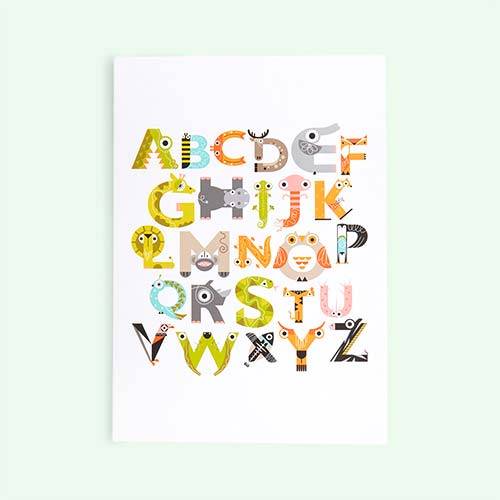 Multi The Jam Tart A3 Alphabet Print