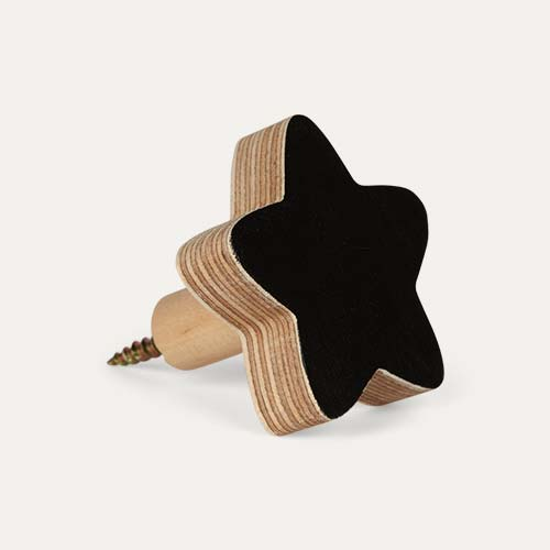 Black Knobbly Star Wall Hook