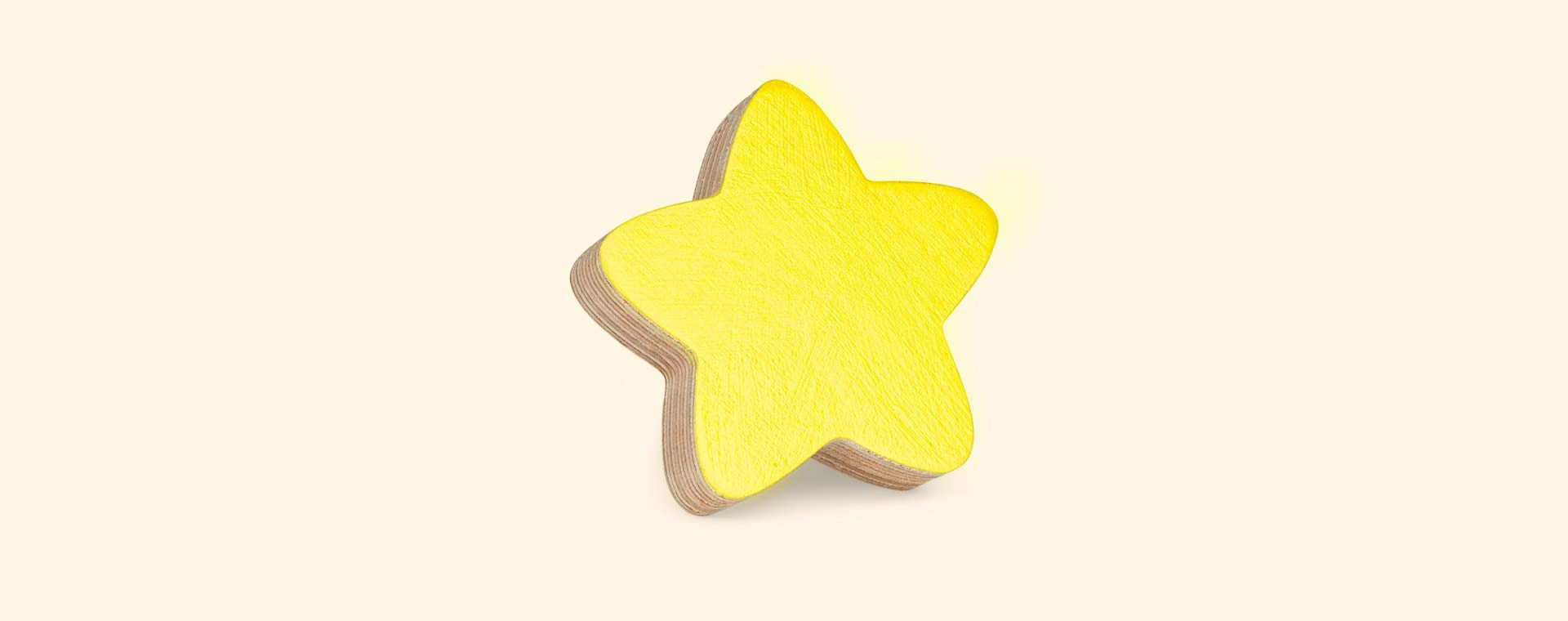 Yellow Knobbly Star Wall Hook