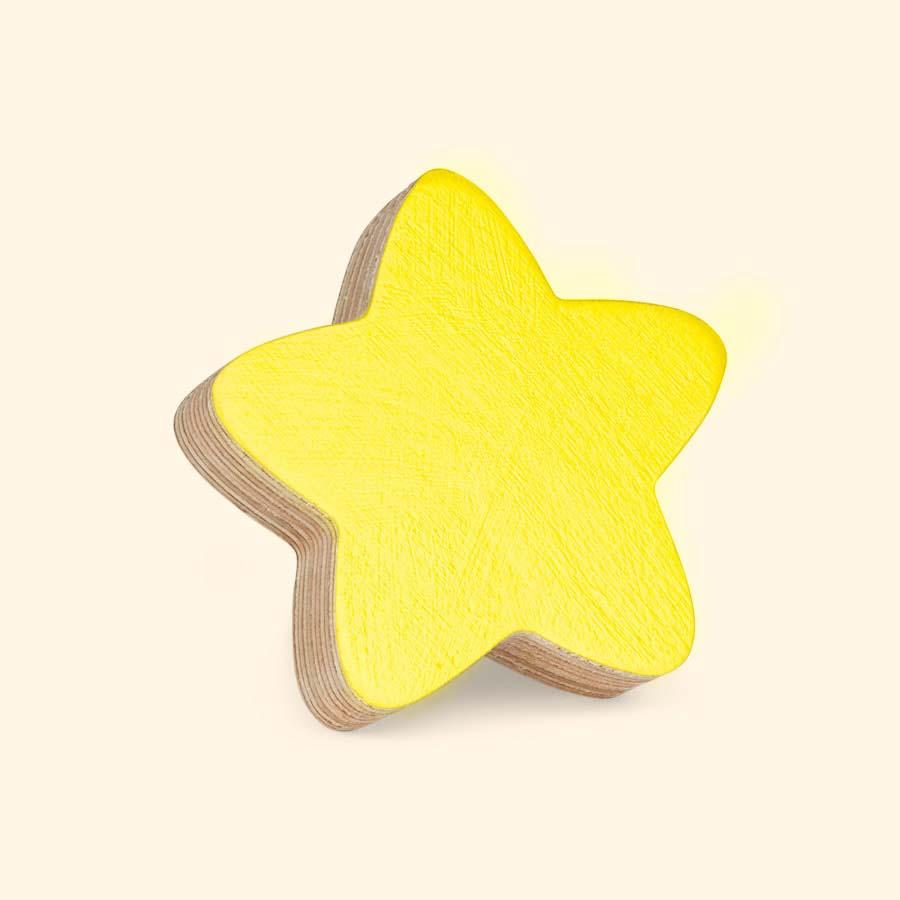 Yellow Knobbly Star Wall Hook