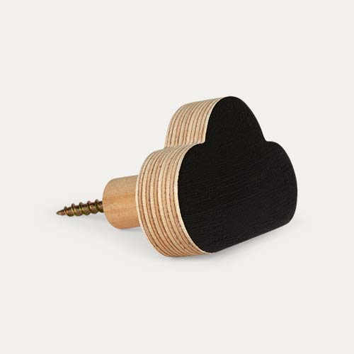 Black Knobbly Cloud Wall Hook