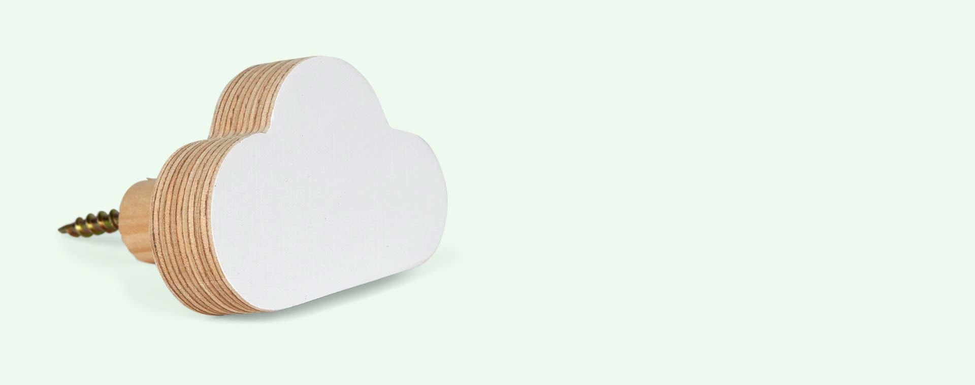 White Knobbly Cloud Wall Hook