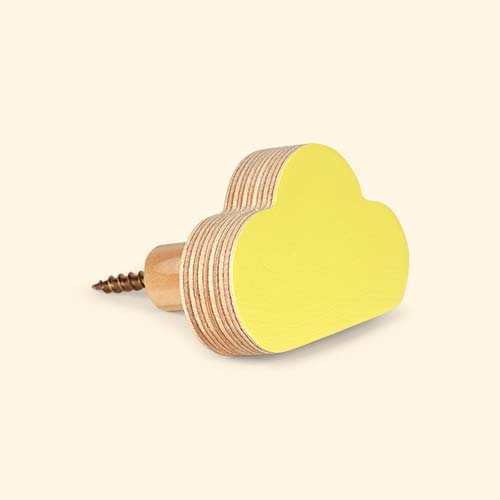Lemon Knobbly Cloud Wall Hook