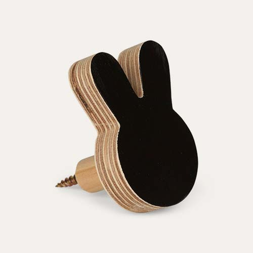 Black Knobbly Bunny Wall Hook