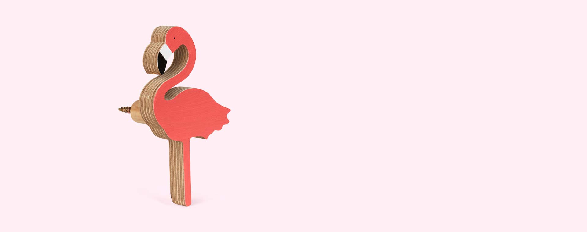 Bright Pink Knobbly Flamingo Wall Hook