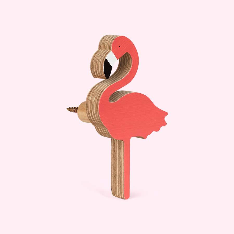 Bright Pink Knobbly Flamingo Wall Hook