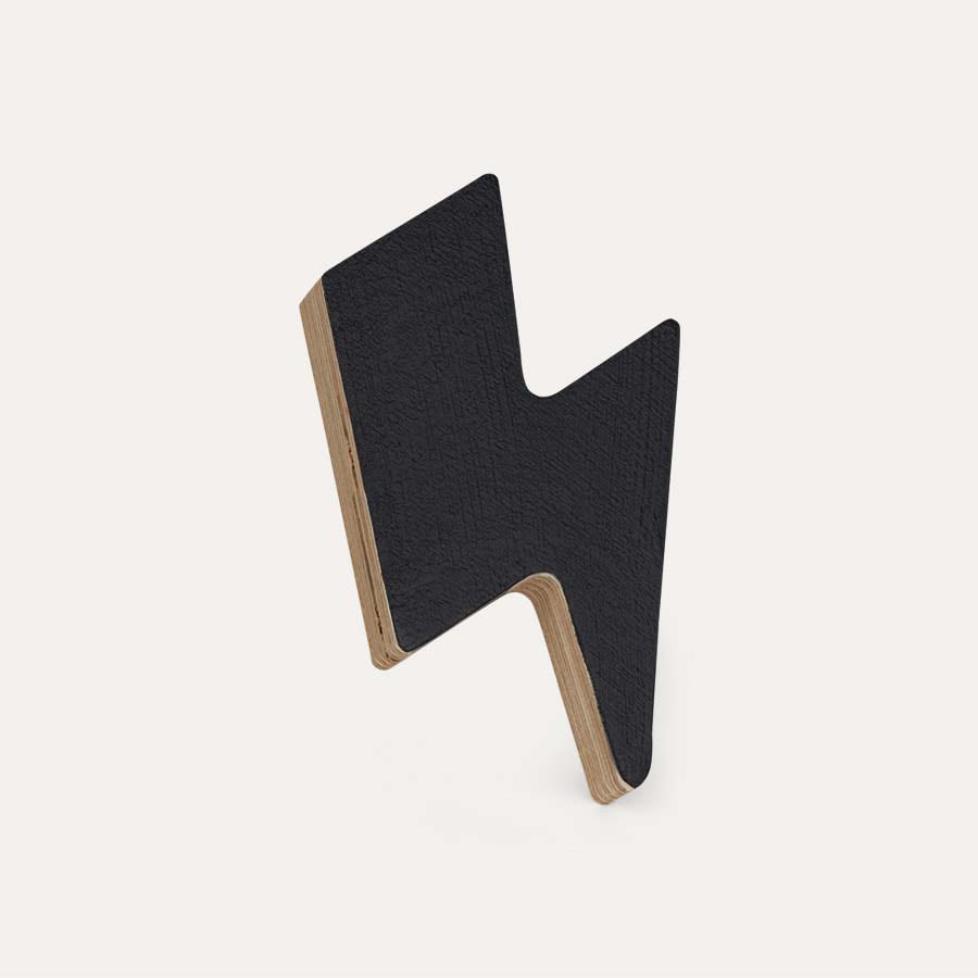 Black Knobbly Lightning Bolt Wall Hook