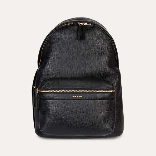 Black JEM + BEA Jamie Leather Backpack