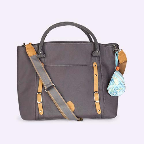 Pewter Pacapod Classic Utility Mirano Changing Bag