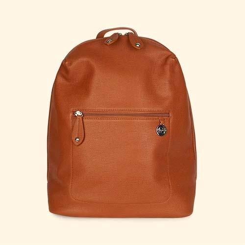 Tan Pacapod Travel Lite Hartland Leather Backpack