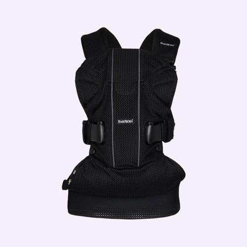 Black Mesh BabyBjorn Baby Carrier One Air